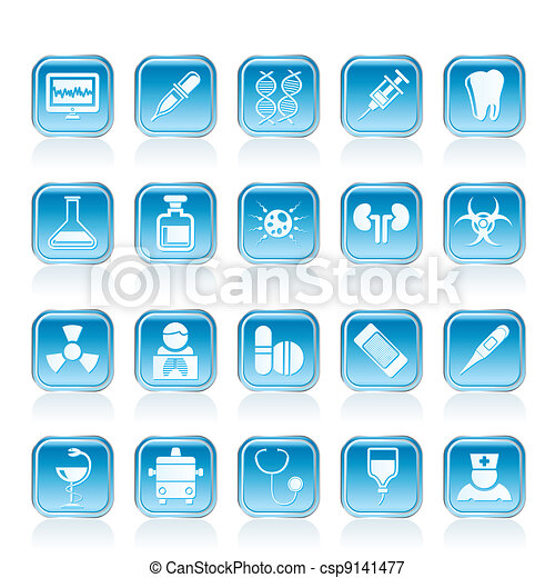 Healthcare and Medicine icons - csp9141477