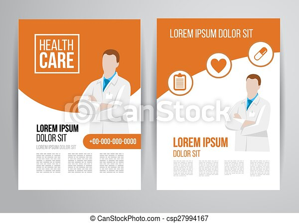 Healthcare Brochure Vector Health Care Brochure For Clinic  Clip