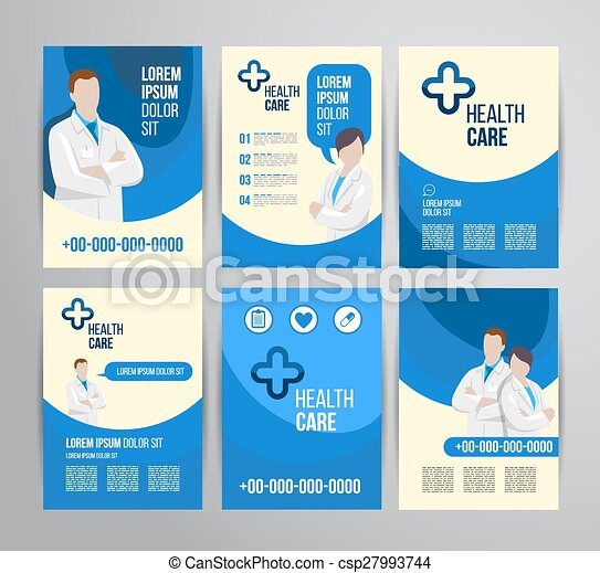Healthcare Brochure Vector Health Care Brochure For Clinic  Eps