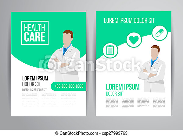 Healthcare Brochure Vector Health Care Brochure For Clinic  Stock