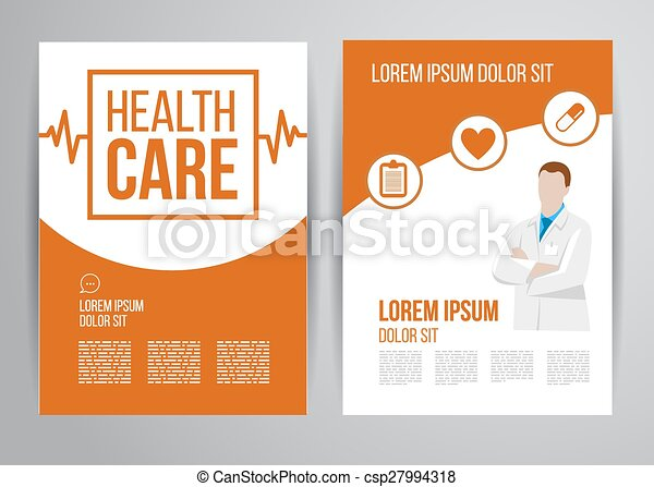 Healthcare Brochure Vector Health Care Brochure For Clinic