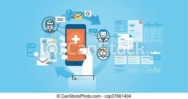 healthcare, mobile, app - csp37661404