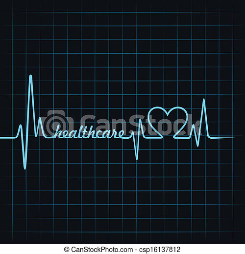 healthcare, pulsation, faire, texte - csp16137812