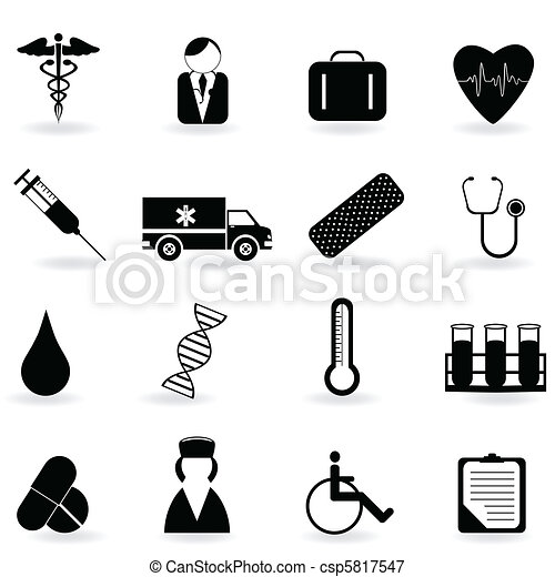 Healthcare Symbols Medical And Health Care Related Symbols Vectors