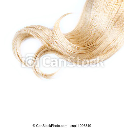 Healthy Blond Hair Isolated On White - csp11096849