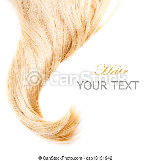 Healthy Blond Hair isolated on white - csp13131942