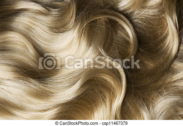 Healthy Blond Hair - csp11467379