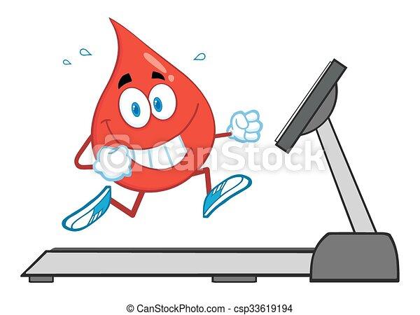 Healthy Blood Drop Character - csp33619194