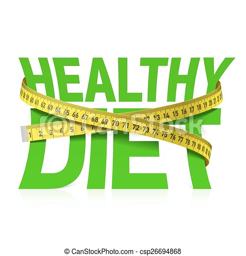 Healthy diet phrase with measuring - csp26694868