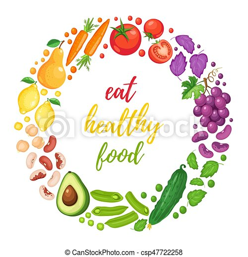 healthy eating poster eat healthy food poster with fresh fruits and rh canstockphoto com healthy food clipart images healthy diet clipart