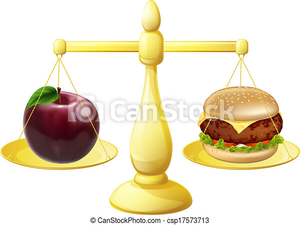 Healthy eating scales decision - csp17573713