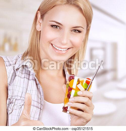 Healthy eating woman - csp35121515