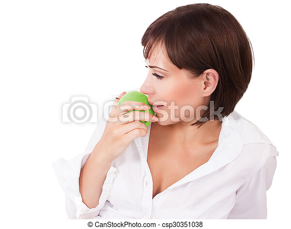 Healthy eating woman - csp30351038