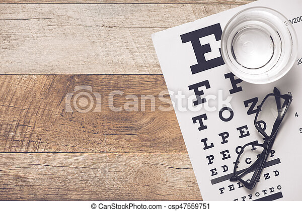 Healthy eyes. Eye chart and medicine - csp47559751