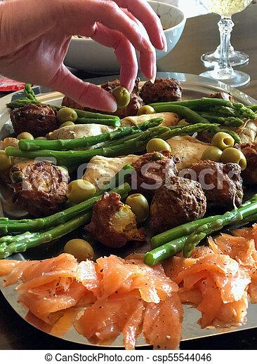 Healthy finger foods - csp55544046