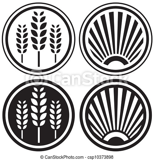 Healthy food and grain symbols - csp10373898