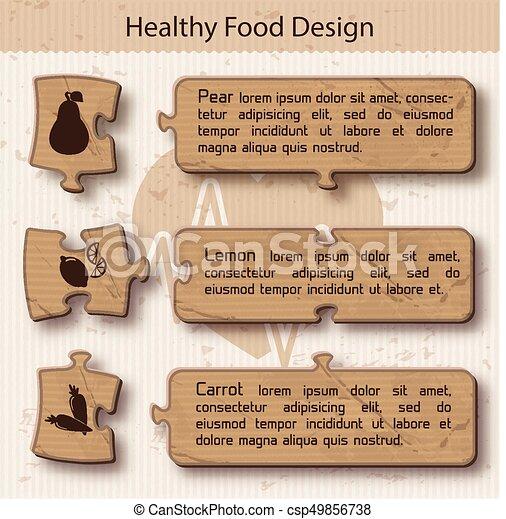 Healthy food Concept Puzzle Design - csp49856738