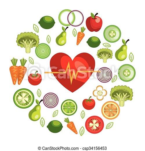 Healthy Food Design Healthy Food Design Vector Illustration