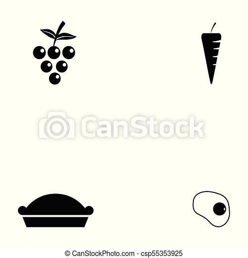 healthy food icon set - csp55353925