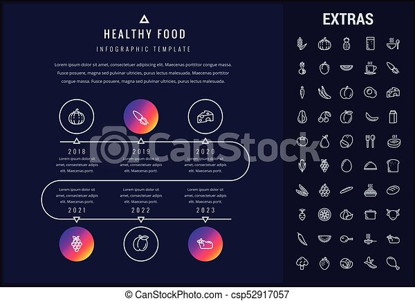 Healthy Food Infographic Template Elements Icons Healthy Food
