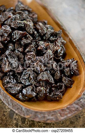 healthy food of dried prunes - csp27209455
