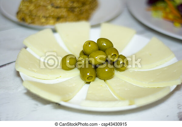 Healthy food on a white wooden table - csp43430915