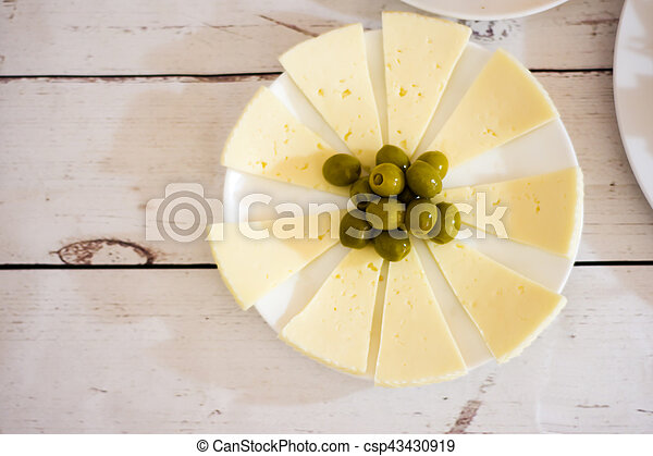 Healthy food on a white wooden table - csp43430919