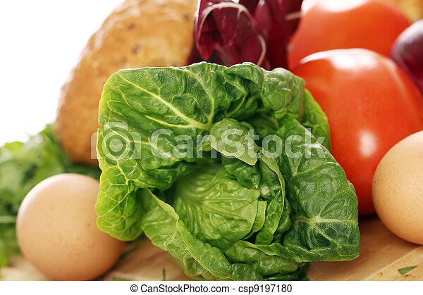 Healthy food on the table - csp9197180
