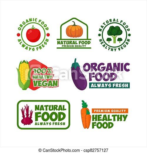 Healthy Food Organic Natural Vector Design - csp82757127