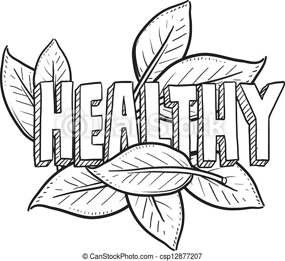 Healthy Food Sketch. Doodle Style Healthy Food Agriculture Or Lifestyle Illustration In Vector ...