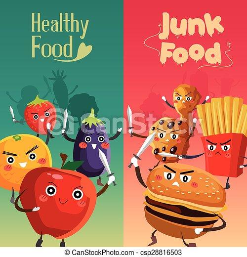 Healthy Food Versus Unhealthy