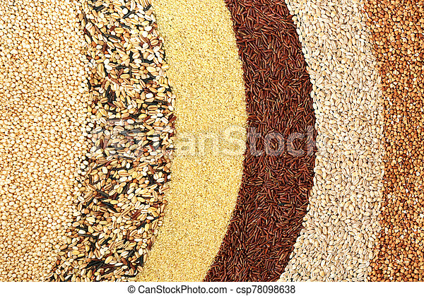 Healthy Food with Super Grains - csp78098638