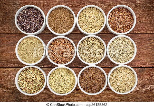healthy, gluten free grains collection - csp26185862