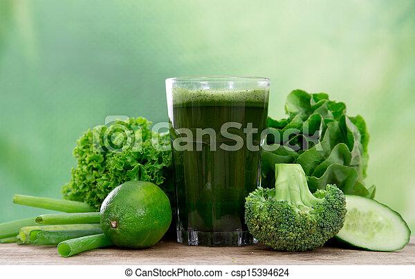 Healthy green juice - csp15394624