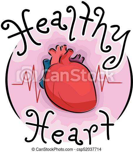 Healthy Heart Icon Illustration