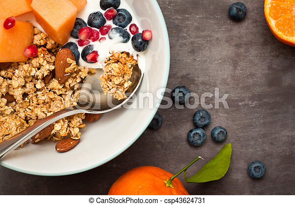 Healthy home made breakfast - csp43624731
