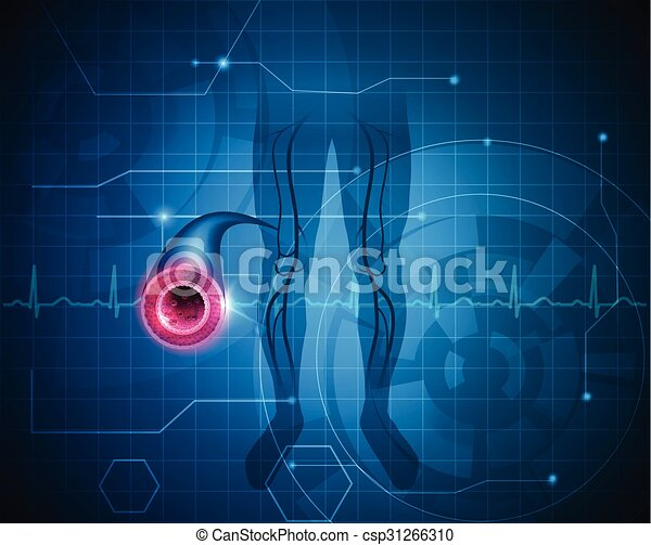 Healthy leg artery background - csp31266310
