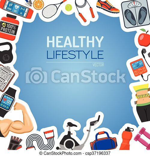 Healthy Lifestyle Background - csp37196337