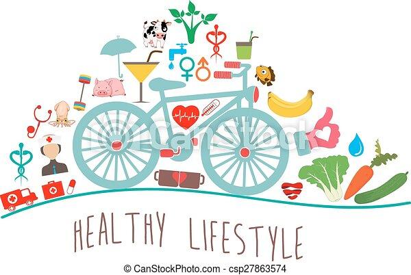 Healthy Lifestyle Background - csp27863574