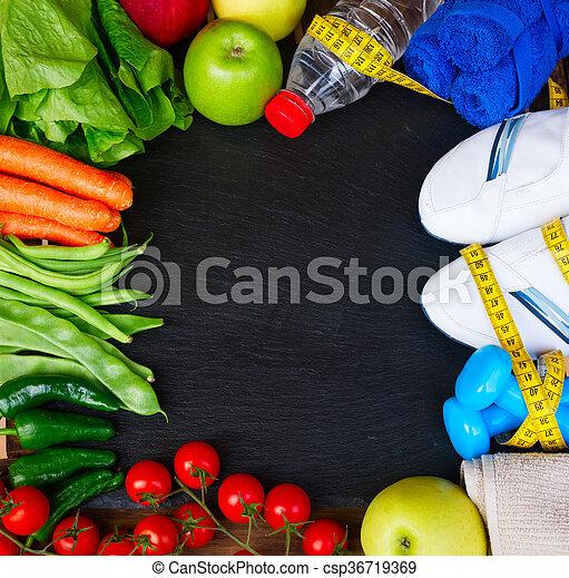 healthy lifestyle concept - csp36719369