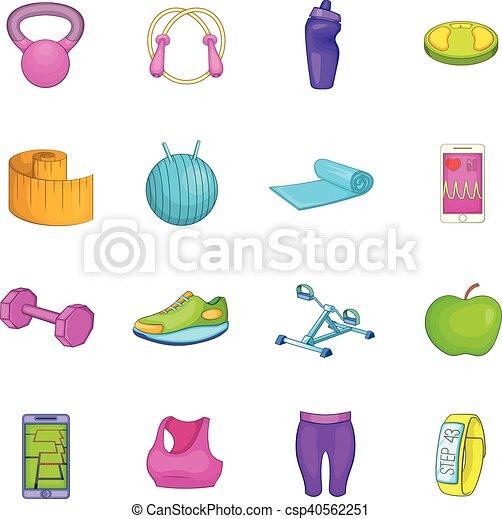 Healthy lifestyle icons set - csp40562251