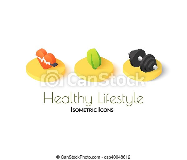 Healthy lifestyle icons - csp40048612