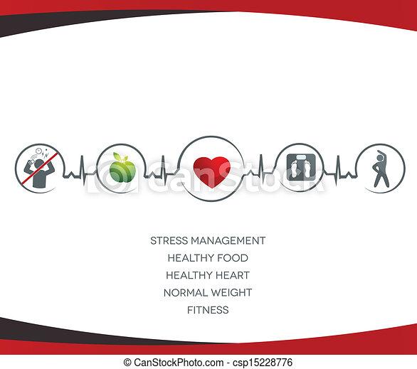 Healthy lifestyle symbols - csp15228776