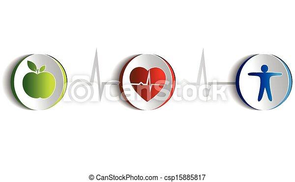 Healthy lifestyle symbols - csp15885817