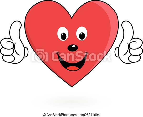 healthy love heart illustration of happy healthy cartoon eps rh canstockphoto ie healthy heart clipart black and white