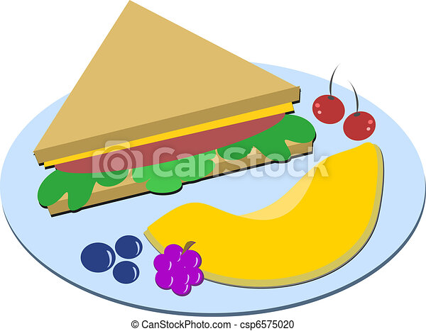 healthy meal of sandwich and fruits here is a nutritious Art Lunch Tray My Lunch Plate