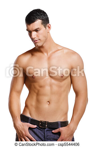 Healthy muscular young man - csp5544406