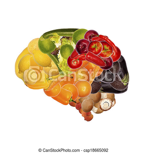 healthy nutrition is good for brain - csp18665092