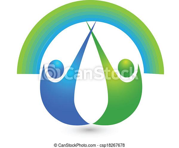 Healthy people logo - csp18267678