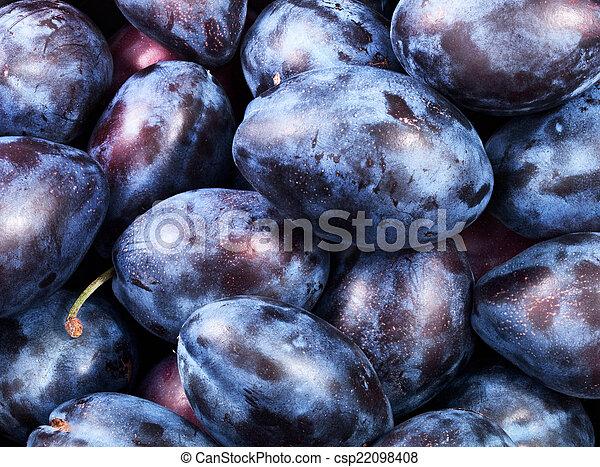 healthy plums - csp22098408